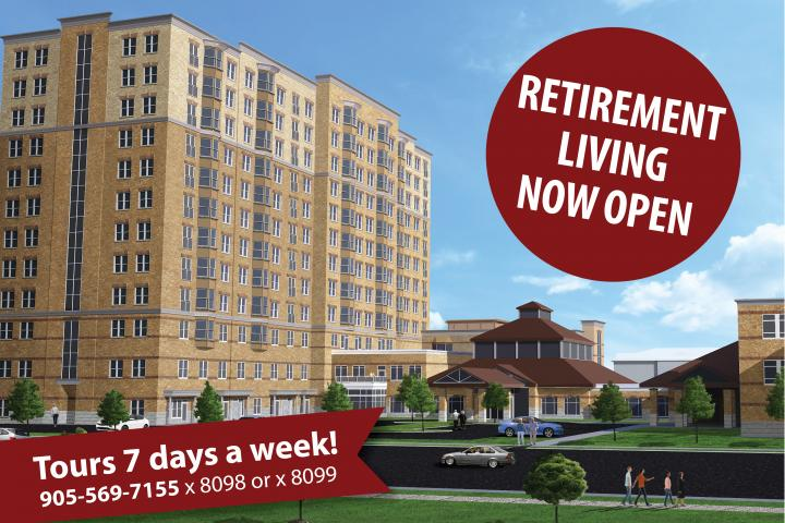 Tours at The Village of Erin Meadows Retirement Home seven days a week