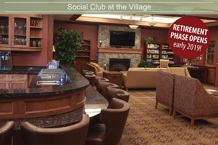 Social Club at the Village of Erin Meadows, Mississauga's best retirement home