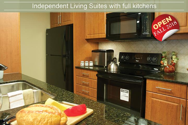 Independent living in a retirement home - Kitchen model suite
