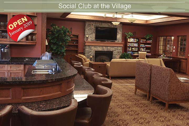 The Village of Erin Meadows will have a social club with the retirement living addition