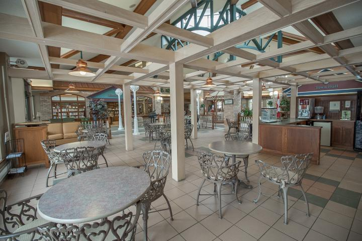 Our main street offers a cafe to enjoy each others company at The Village of Riverside Glen