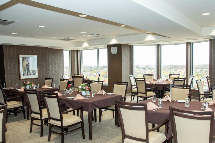 Dine at The Ruby on the 10th floor at The Village of Wentworth Heights in Hamilton