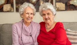 """""""It's the relationships that form that matter and companionship is important,"""" says Bev Saynor (right)."""