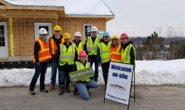Team members from three Villages, as well as a resident, took part in three volunteer build days in support  of Habitat for Humanity, Wellington-Dufferin-Guelph.