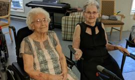 Helen and Helen were two of the models who helped make a Coleman Care Centre Fashion show special.