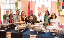 """Humber Heights team members celebrated the wonderful cultures of the Village during the final """"Diversity Lunch"""" of the summer."""