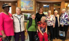 Some members of the Humber Heights knitting group that work together to raise funds for people in need during the Christmas season.