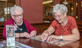 Ruth and Anne both say living at Wentworth Heights feels like living at home.