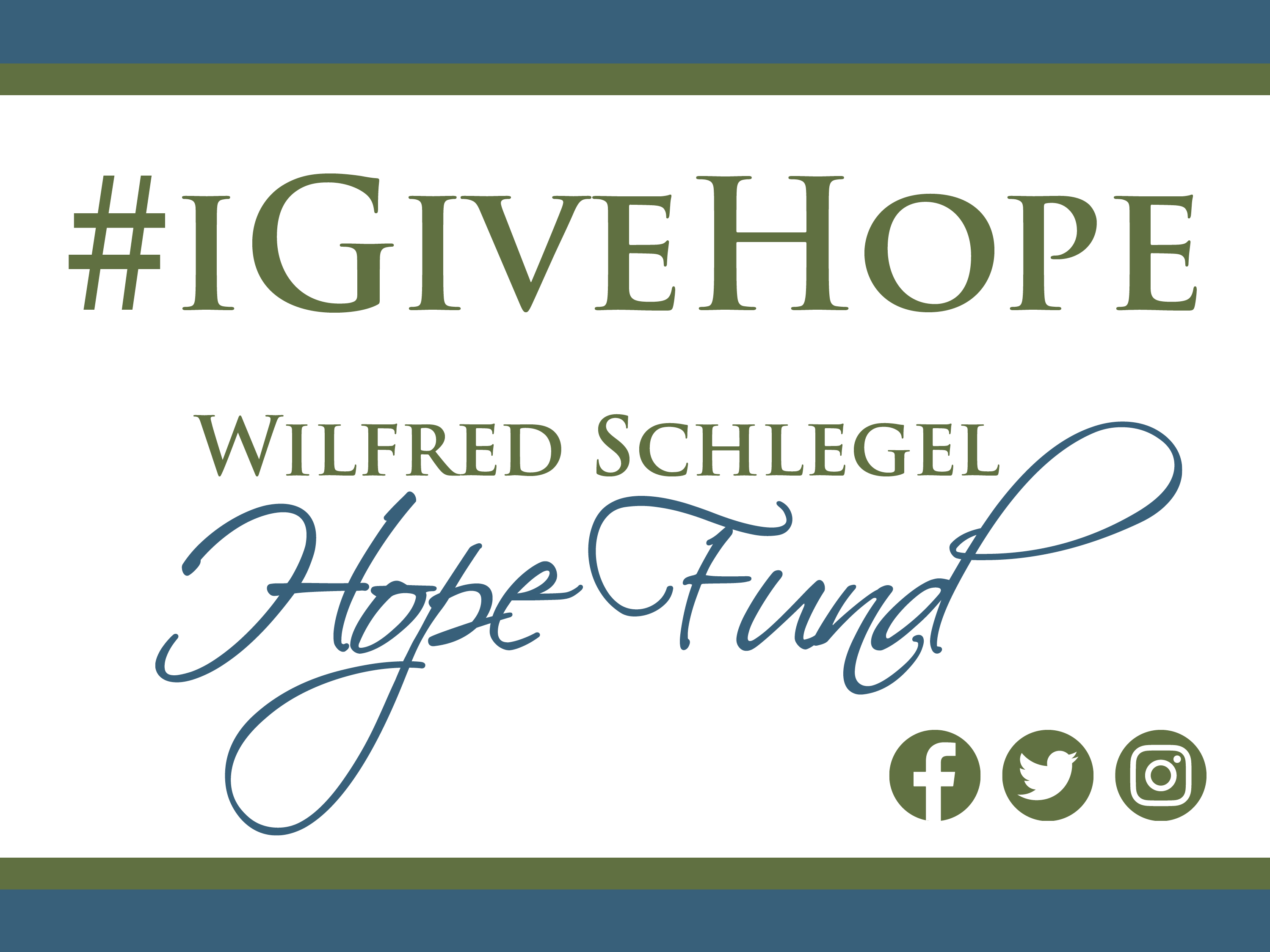 Wilfred Schlegel Hope Fund - Team Member Benevolent fund