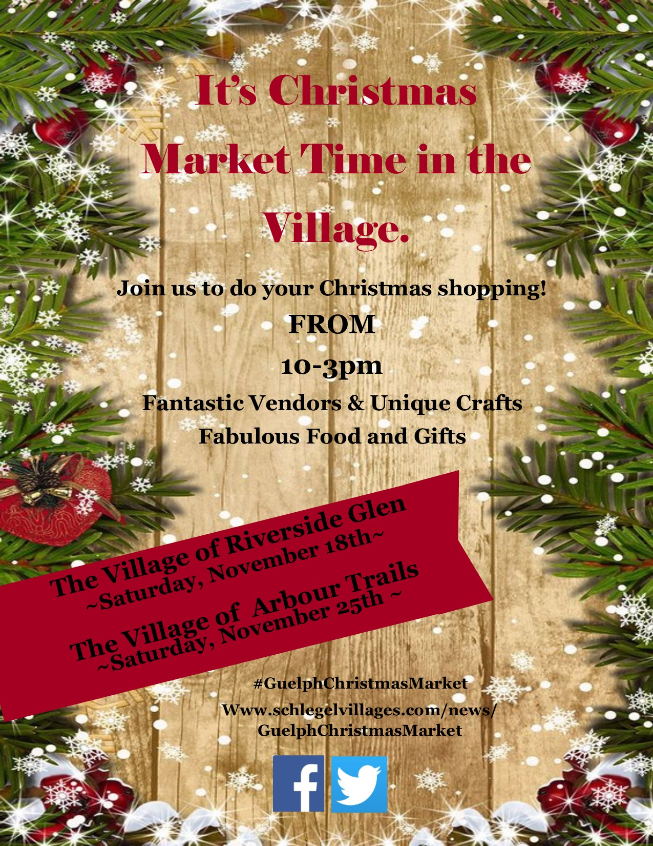 Guelph Christmas Market Poster