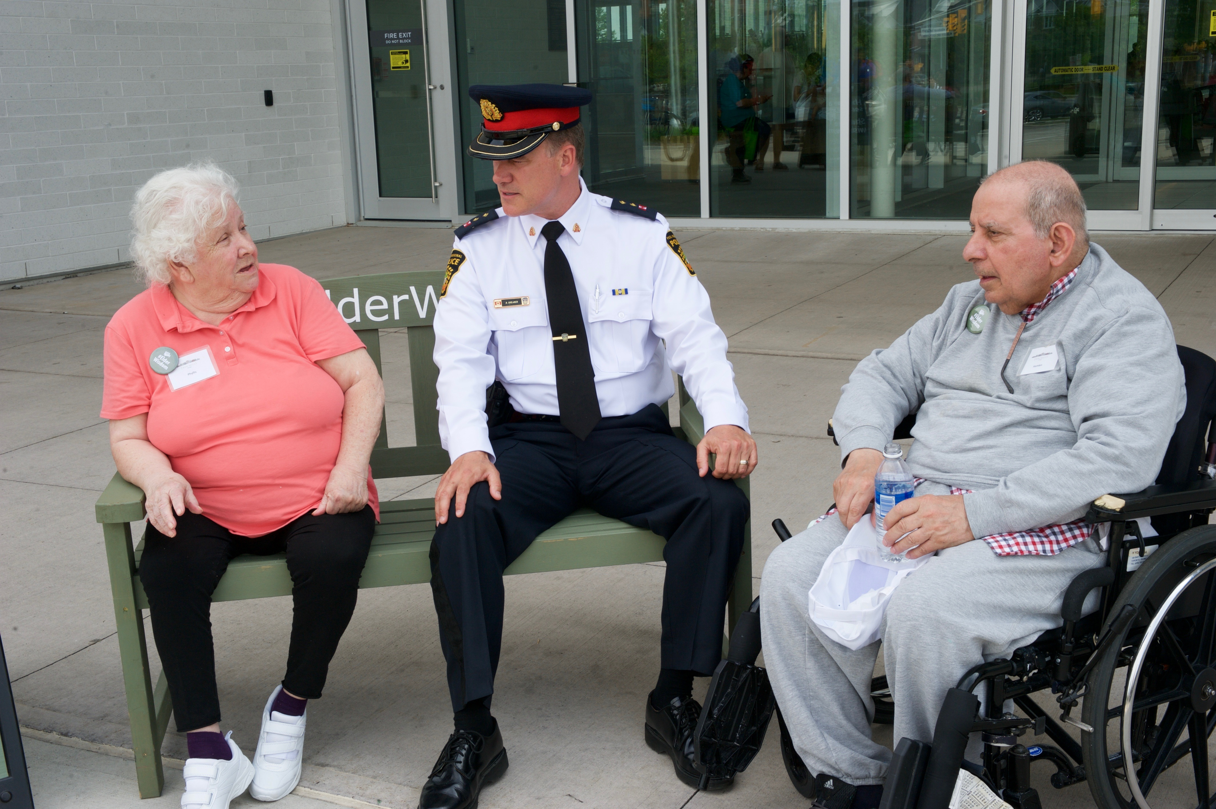 Phyllis and Hamlen share #ElderWisdom with the Peel Police
