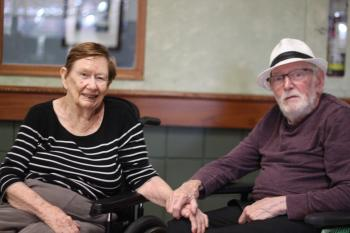 Margaret and Harry McMahon in their long term care home at The Village of Erin Meadows in Mississauga