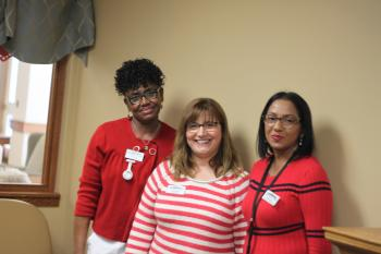 Bev, Rosa and Bibi say that teamwork and communication  are critical if dedicated support is going to work.