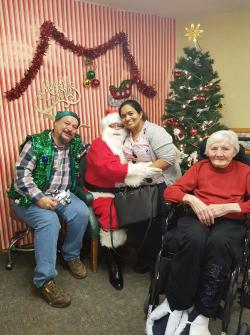 Waterloo's Pinehaven Nursing Home in the Christmas spirit.