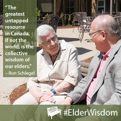 #ElderWisdom Quote by Ron Schlegel