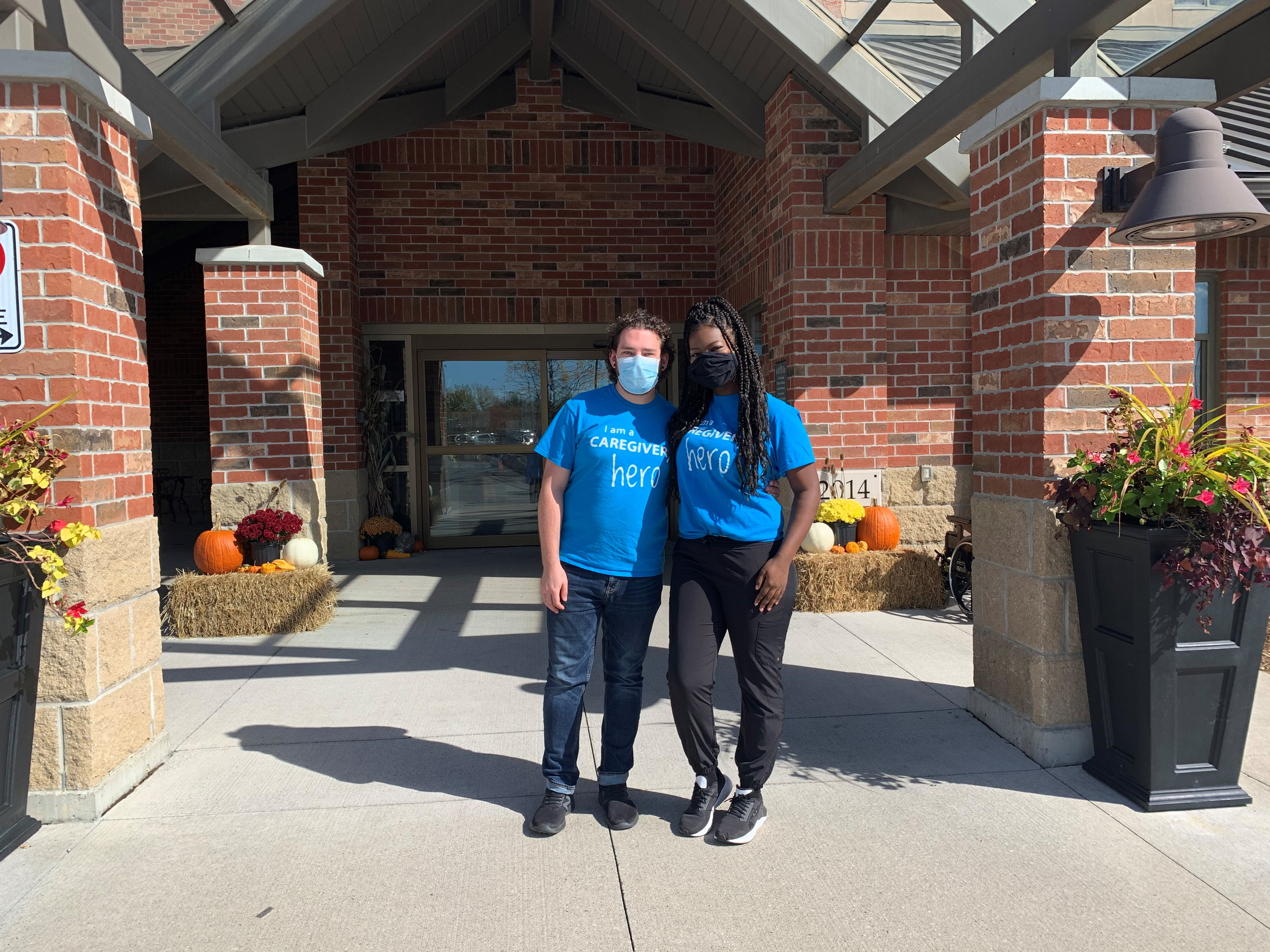 Angelo Ciardella and Trenee Webster are both personal support workers from The Village at St. Clair in Windsor