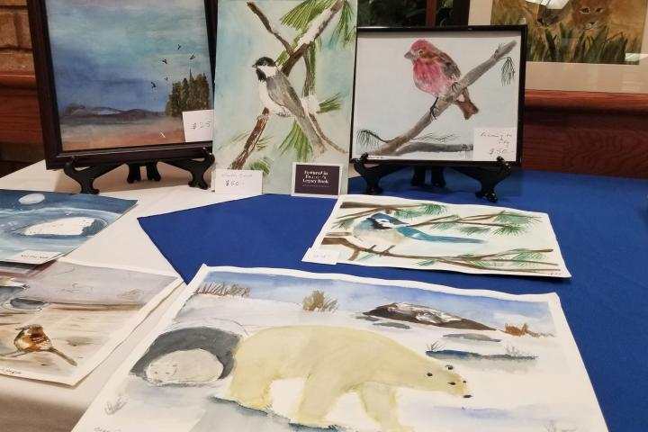 Days before the provincial COVID-19 lockdown was imposed, artist Ann Wingfield was featured in an art show in her home Village of Wentworth Heights.