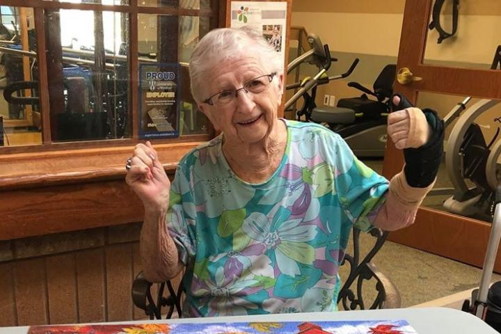 Mary is one of the residents at Aspen Lake who received a personalized poem written by volunteer Sue Marier.