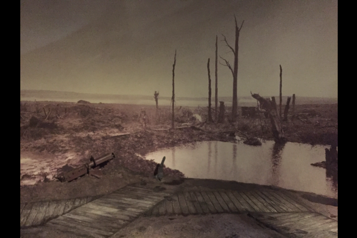 A photo of thePasschendaele exhibit at TheCanadian War Museum. No veterans of The Great War are alive today, but their efforts will never be forgotten.