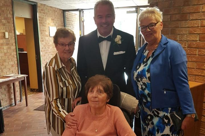 Randy and his mother Kathryn (front) are joined by an aunt and cousin from The Netherlands. They were so pleased Kathryn could be part of her Grandson's wedding.