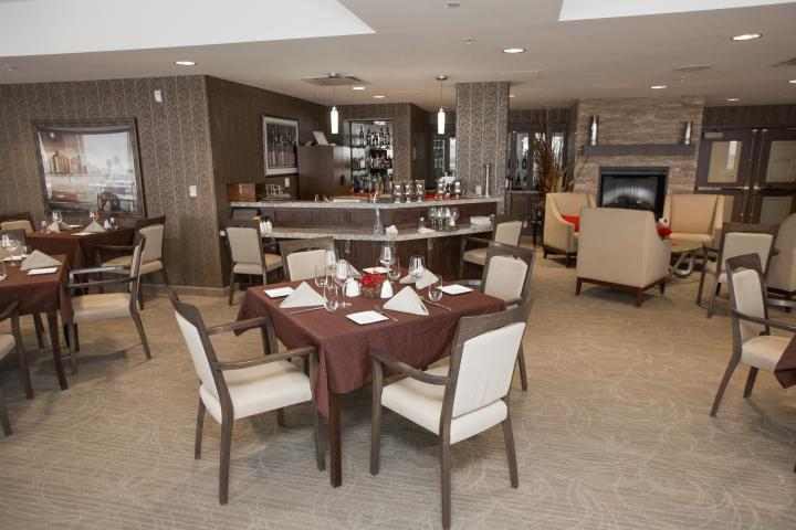 Dine at the Ruby on the 10th floor at The Village of Tansley Woods in Burlington