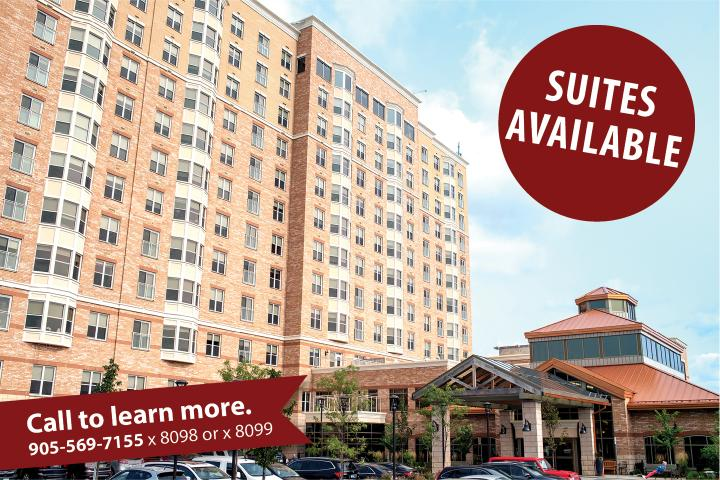 The Village of Erin Meadows Retirement Home has Suites Available. Call to learn more.
