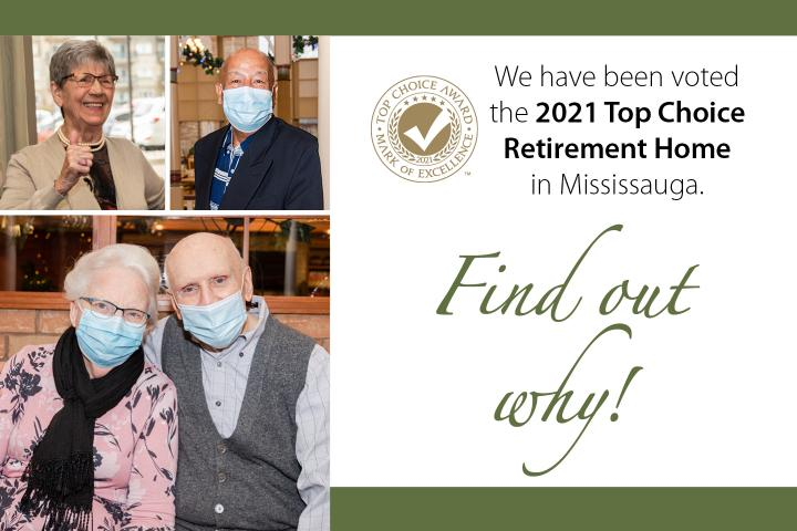 Erin Meadows has been voted the 2021 top choice retirement home in mississauga