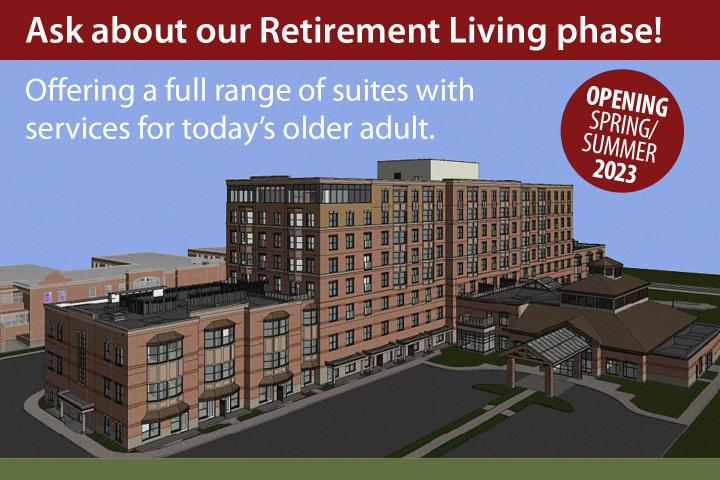 Ask about our Retirement Living phase. Opening in London, Ontario in 2023.