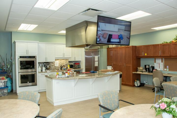 Demo Kitchen at The Village of Wentworth Heights Retirement Home in Hamilton