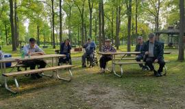 Residents from The Village of Riverside Glen were able toenjoy the wide open spaces at Shady Pines Campground.