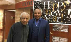 Lloyd and Andrew, father and son, together to celebrate the New Year together in 2020.