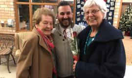 Stephen greets new residents who will join the Village of Erin Meadows community in February