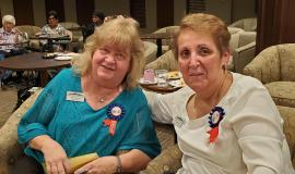 Mary and Sylvia approached their years of service to Erin Mills Lodge with passion and dedication.