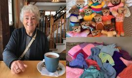 Riverside Glen: Pauline Jenkins has created gifts for others around the world with her knitting skills. She's now part of a community group doing the same for Hospice Wellington.