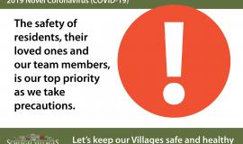 Covid precautions and daily updates from Schlegel Villages
