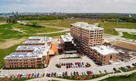 Drone photo of The Village at University Gates Retirement and Long Term Care in Waterloo