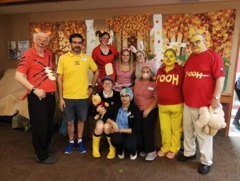 The Matthews neighbourhood at University Gates went for a Winnie-the-Pooh theme on Halloween Day.