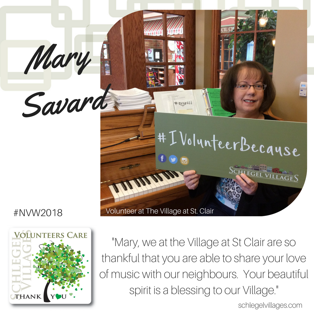 Mary Savard - Volunteer at St. Clair