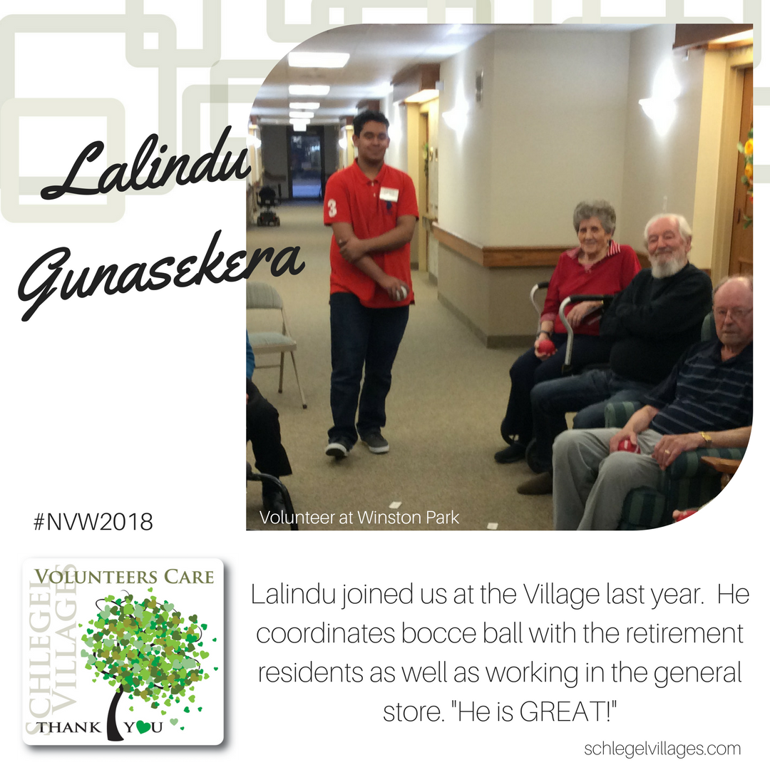 Lalindu Gunasekera - Volunteer at Winston Park