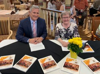 Wentworth Heights chaplain Ken Styles and author Kathe Kleinau at the Launch of The Founders' Legacy, June 2019.