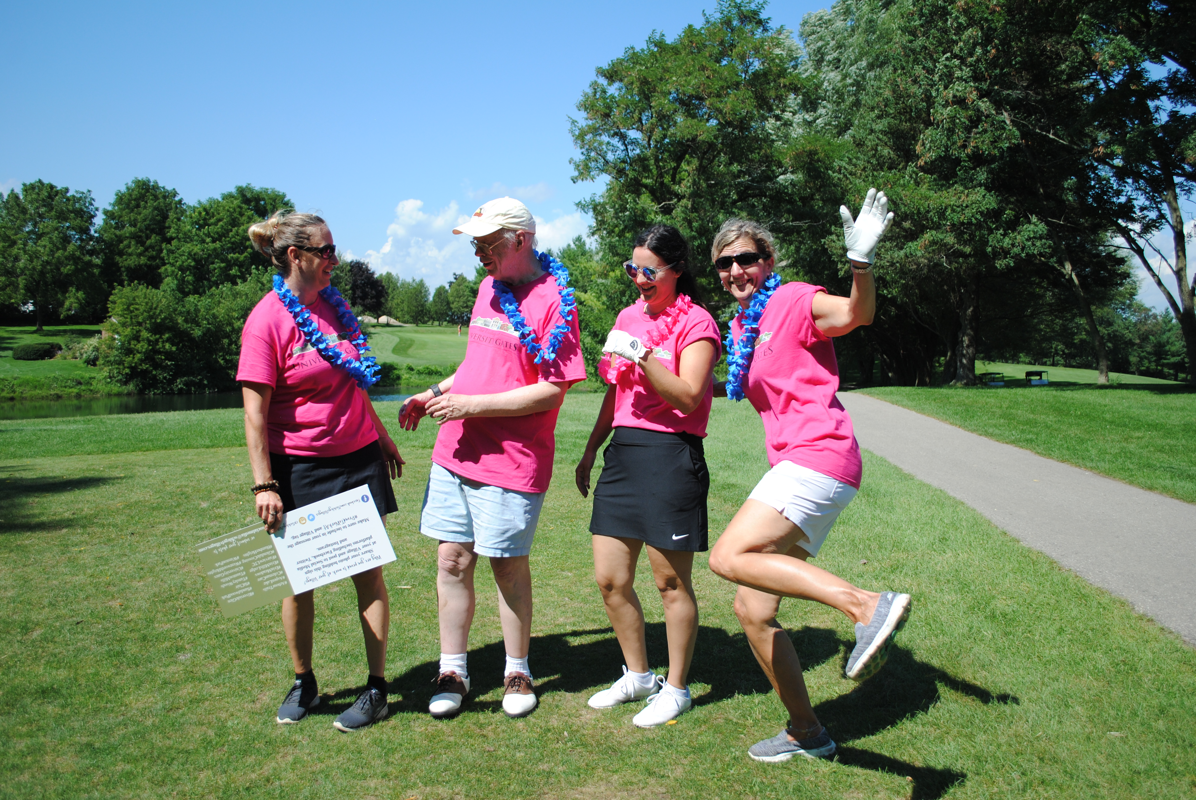 Golfers in the Hand Up For Haiti Tournament