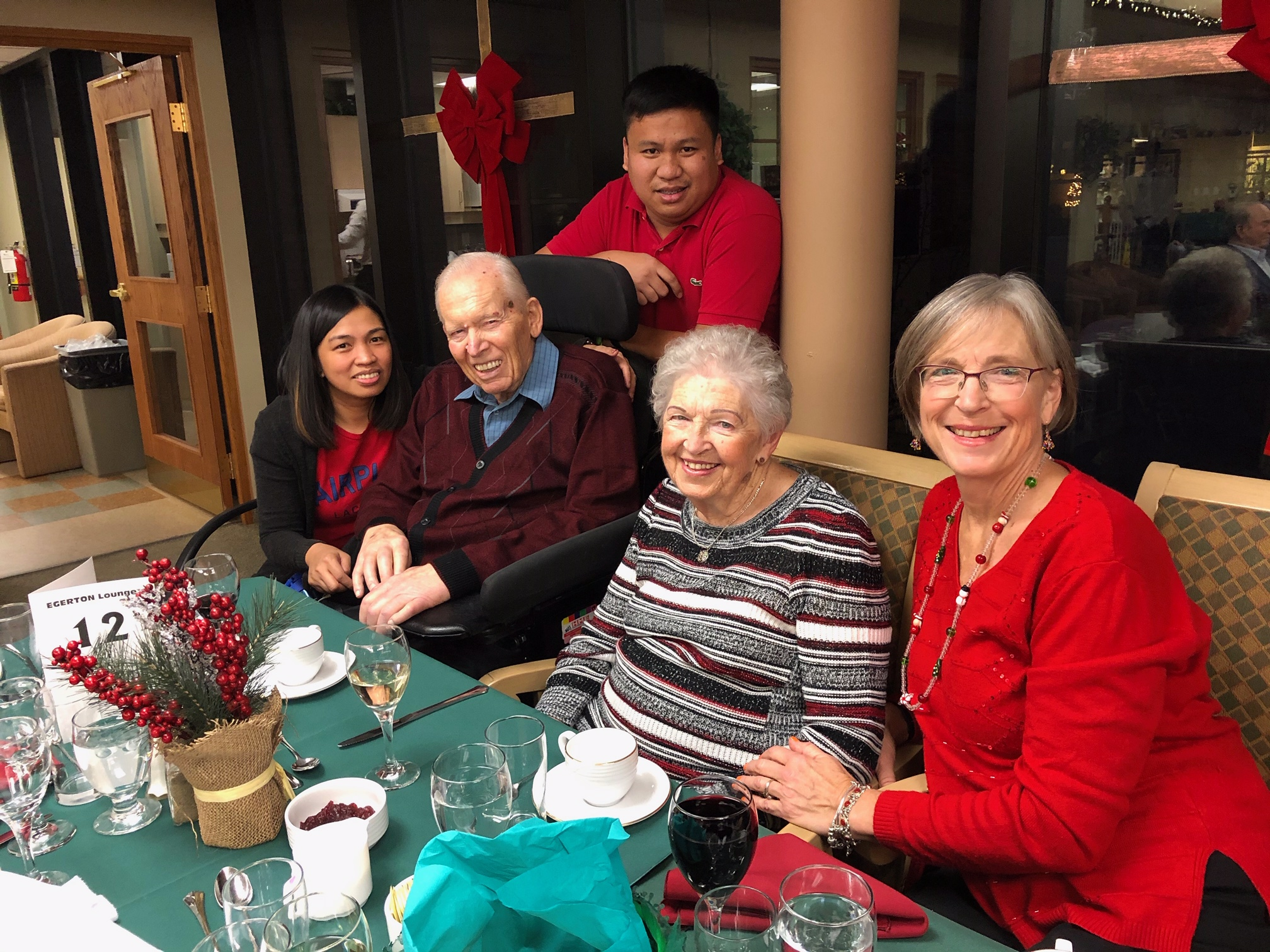 During the 2019 Christmas season, Don, Claudette and Patricia  spent time with caregivers Joy and Patrick in the Egerton Neighbourhood.