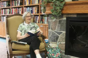 Patricia Bailey shares her love of poetry with  The Village of Taunton Mills
